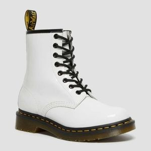 Dr Martens 1460W White Patent boots